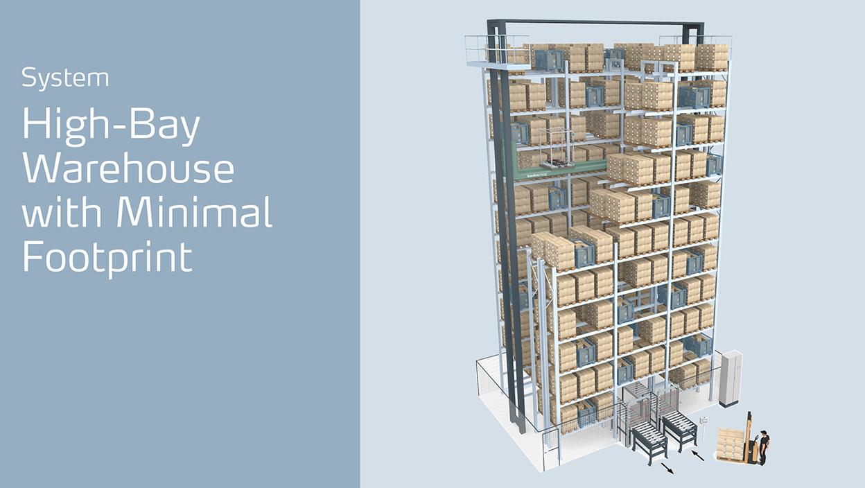 MTower: High-bay warehouse with minimal footprint